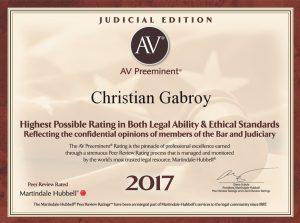 2017 AV Preeminent Attorney
