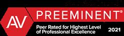 Martindale Hubbell Peer Preeminent Award 2021